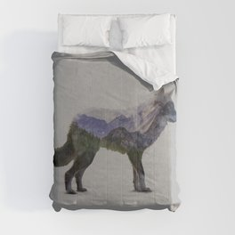 The Rocky Mountain Gray Wolf Comforters