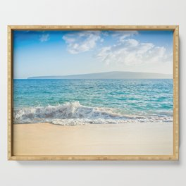 Oneloa Big Beach Makena Maui Hawaii Serving Tray