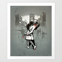zombies Art Prints featuring Zombies by Ronan Lynam