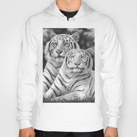 tigers Hoodies featuring Two Tigers by Thubakabra