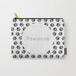 Pawsitive - dog lover animals pattern Carry-All Pouch