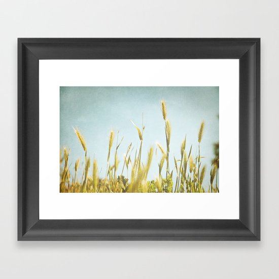 Hazy Lazy Skies Framed Art Print
