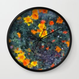 Ocean poppies Wall Clock