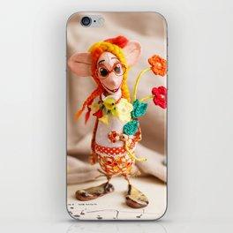 Flower Lady iPhone Skin
