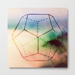The Elements Geometric Nature Element of Spirit Metal Print