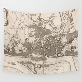 Vintage Map of Nantes France (1764) Wall Tapestry