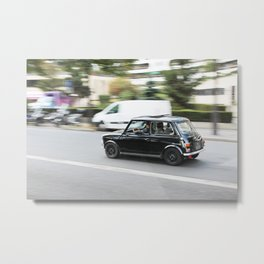 Mini on the Streets of Paris Metal Print