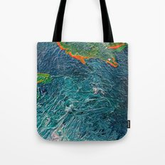Ocean Depth abstract painting photograph Tote Bag