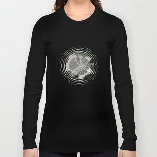 Zentangle and Tree Motifs in Circles Long Sleeve T-shirt
