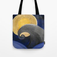 nightmare Tote Bags featuring Nightmare by Shelly Lukas Art