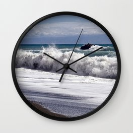 WAVES on the EAST-COAST of SICILY Wall Clock