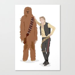 Han Solo and Chewbacca Canvas Print