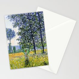 "Claude Monet ""Sunlight Effect under the Poplars"", 1887 Stationery Cards"