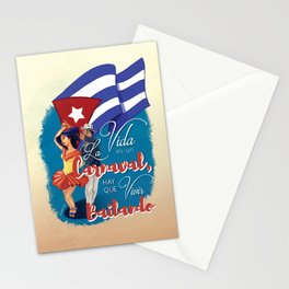 Cuban Carnaval Dancing Stationery Cards