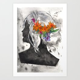 Perfil Series: Stencil 1 (Grey Wash and Color 1) Art Print