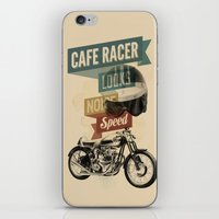 cafe racer iPhone & iPod Skins featuring cafe racer by Liviu Antonescu