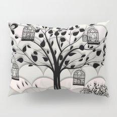 Paper landscape B&W Pillow Sham
