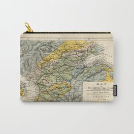 Scotch Coal Fields Vintage Map Carry-All Pouch