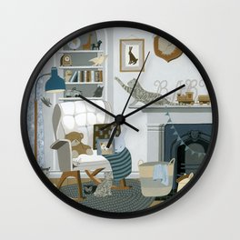 Baby Animal Nursery Wall Clock