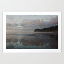 golden hour at piha beach Art Print