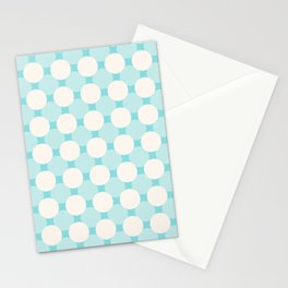 White circles over blue Stationery Cards