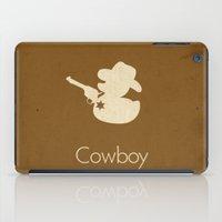 cowboy bebop iPad Cases featuring Cowboy by S. Vaeth