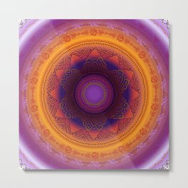 Purple norland night without moon. Metal Print