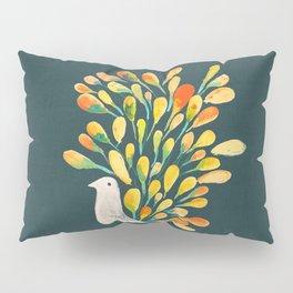 Watercolor Peacock Pillow Sham
