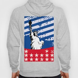 USA Flag - American Flag - Statue of Liberty - 4th July Hoody