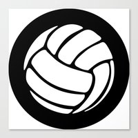 volleyball Canvas Prints featuring Volleyball Ideology by ideology