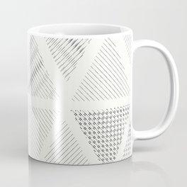 Triangle Hatching Pattern Coffee Mug