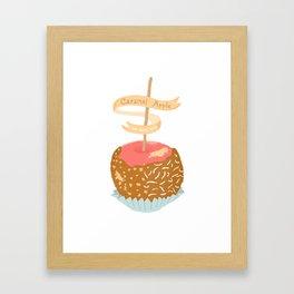 Caramel Apple om nom nom Framed Art Print