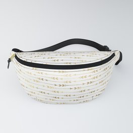 White & Gold Arrow Pattern Fanny Pack
