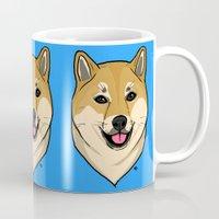 shiba Mugs featuring Shiba Inu by Bleachydrew