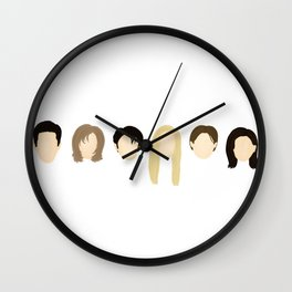 FRIENDS TV Faces & Lineup Wall Clock