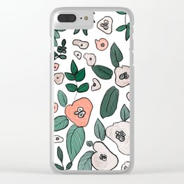 earth tone floral Clear iPhone Case