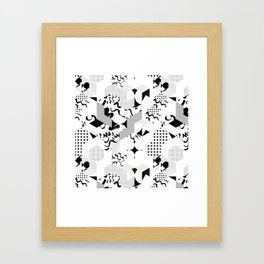 In between the lines and dots Framed Art Print