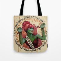 argentina Tote Bags featuring Miss Argentina by Brittany W-Smith