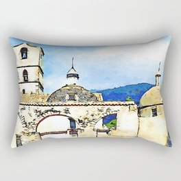 Arcades, bell tower and domes  of the sanctuary Saint Francis of Paola Rectangular Pillow