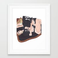 badwood Framed Art Prints featuring Too Bad for you by Reza Zabardast