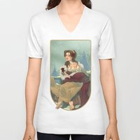 nouveau V-neck T-shirts featuring Nouveau 1991 by Lettie Bug