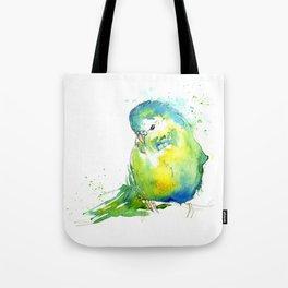 Budgie Series - IV Blue/Green Tote Bag