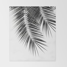 Black Palm Leaves Dream - Cali Summer Vibes #2 #tropical #decor #art #society6 Throw Blanket