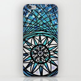 Blue Flame Mandala iPhone Skin