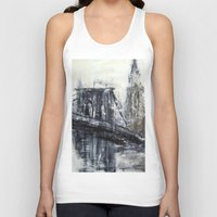 brooklyn bridge Tank Tops featuring Brooklyn Bridge  by Kasia Pawlak