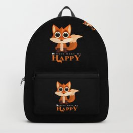 Foxes Make Me Happy Backpack