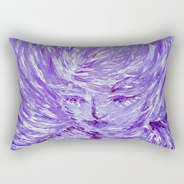Blue Eolo Rectangular Pillow