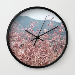 California Pink Flowers Wall Clock