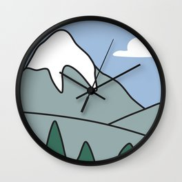 Landscape from the living room of the Griffin family #2 Wall Clock