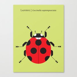 Lady Bug Yellow Canvas Print